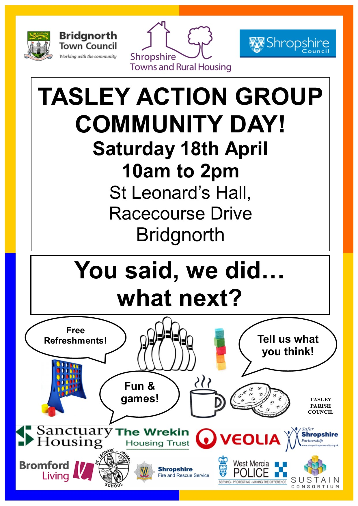 18th April event poster for Facebook and press release