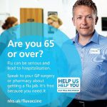 Are you 65 or over? help us help you - poster