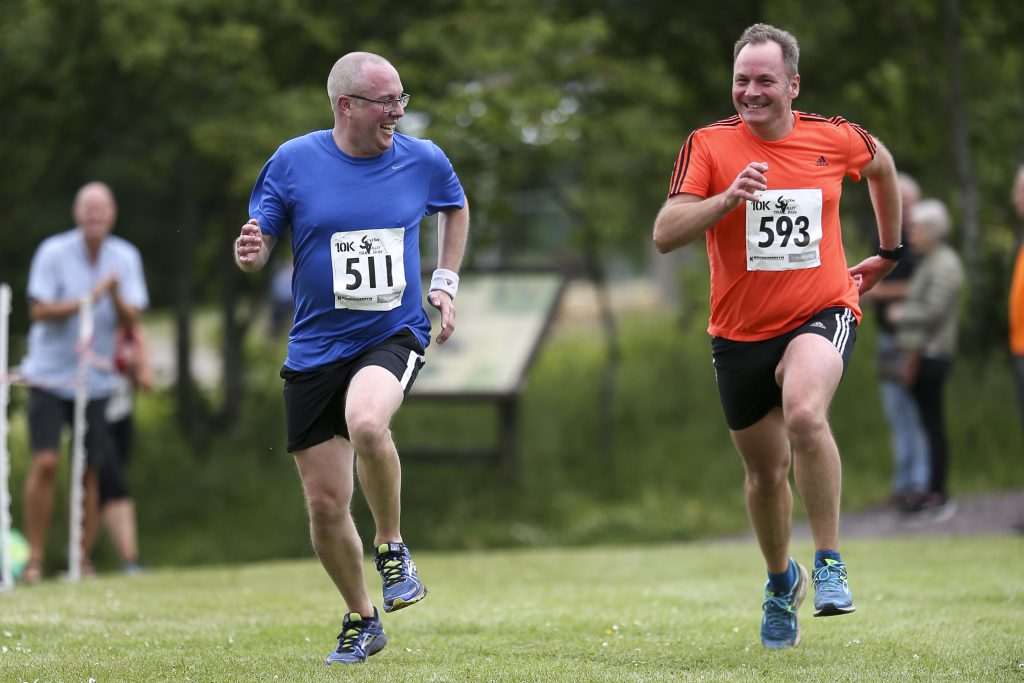 An image of two male runners at the Severn Valley Trail Run at Severn Valley Country Park