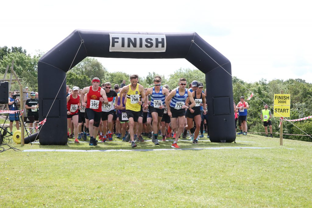 An image of runners starting the Severn Valley Trail Run at Severn Valley Country Park.