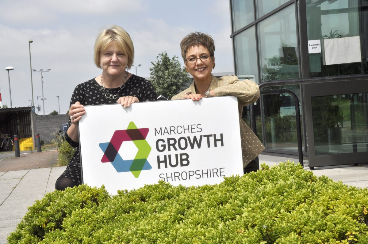 Anna Sadler and Emma Chapman from Marches Growth Hub Shropshire