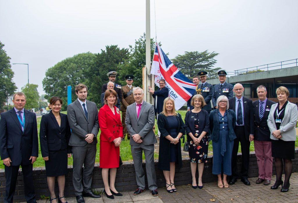 The flag-raising - Armed Forces Day 2019