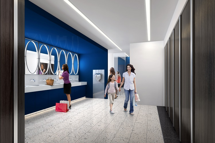 An artist's impression of how the toilets will look after the refurbishment work.