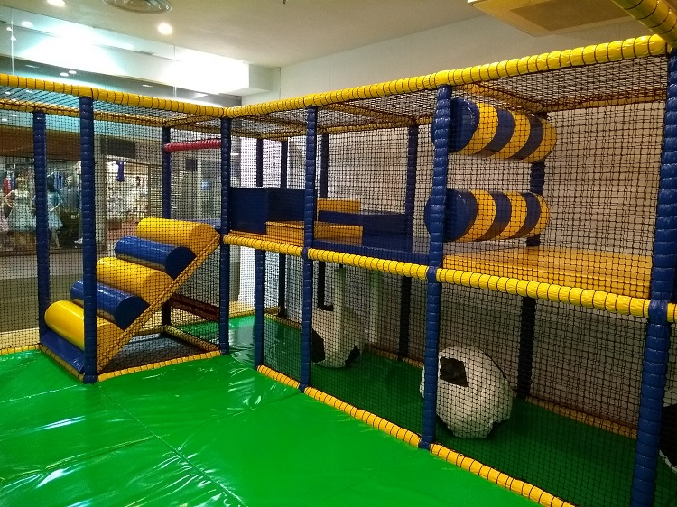 Some of the soft play equipment inside Darwin's Den