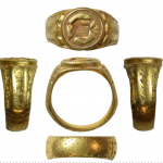 An image of a gold signet ring found in Shropshire has been declared as treasure.