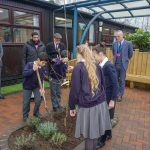 Holocaust - Pupils planting the tree at St Peter's School, Wem.