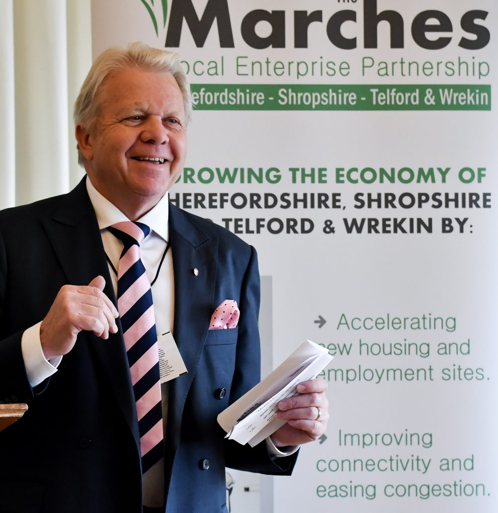 Marches LEP chairman Graham Wynn launches the new plan at Westminster