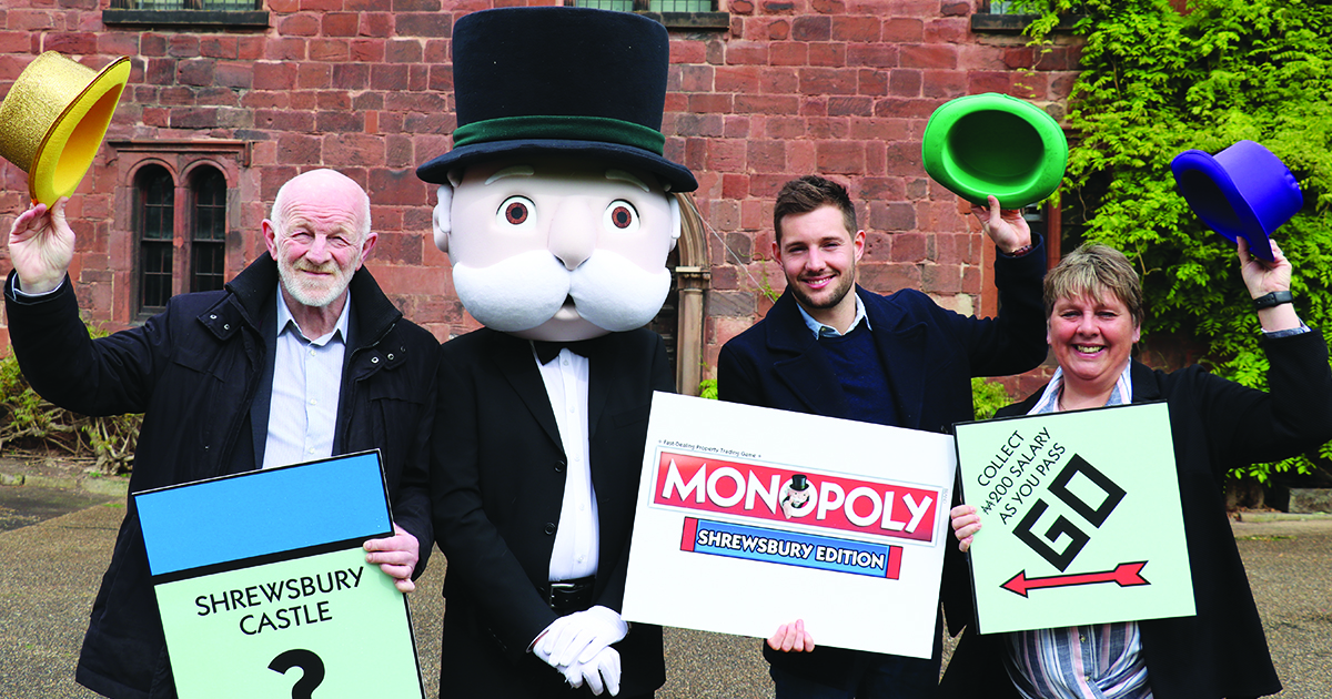 Shrewsbury is to get its very own Monopoly board.