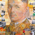 An image of a painting of Wilfred Owen produced by artist Anthony Brown. Wilfred Owen's poems form part of the In the Hands of Boys project.