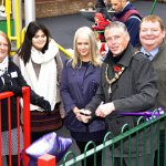 Image showing the opening of a new children's play area in Castlefield, Oswestry funded by STAR Housing to bring the community together the local housing area.