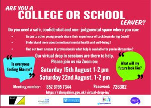 Zoom sessions being held in August for young people