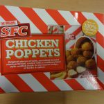 An image of a box of chicken poppets that are part of a food recall.
