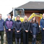 An image of representatives of the key partners involved in the extension project of the Visitor Centre at Severn Valley Country Park.