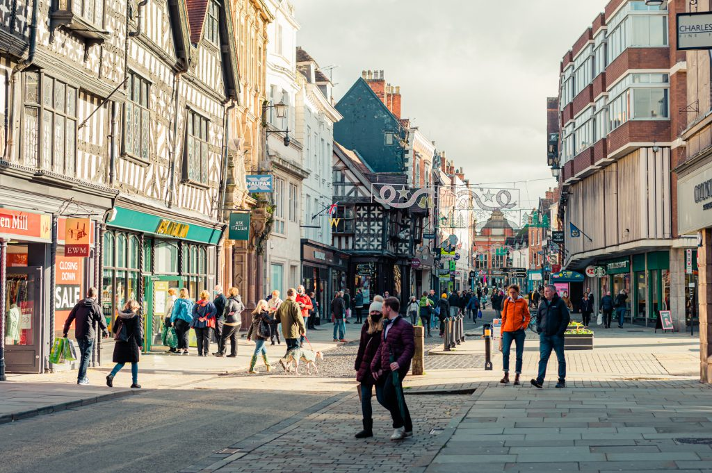 Shrewsbury town centre. Photo: Andy Hughes.