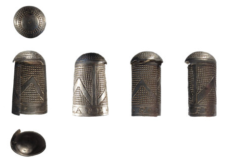 An image of a silver thimble that was found in Shropshire has been declared as treasure.