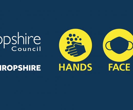 Step Up Shropshire Logo - Hands, Face, Space