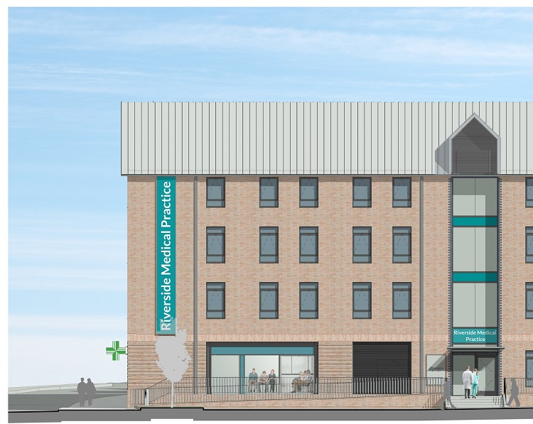 An artist's impression of how the new Riverside Medical Practice will look