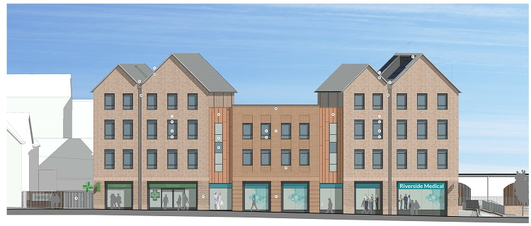 An artist's impression of how the new Tannery development will look