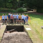 An image of the team who carried out the first ever excavation at Shrewsbury Castle