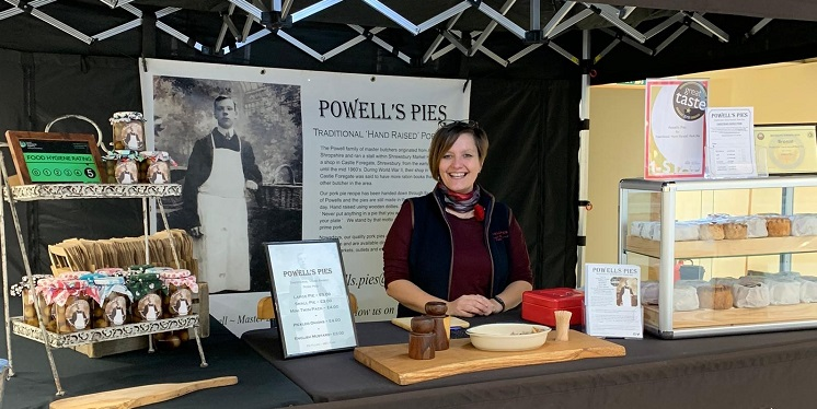 Powell's Pies stall in the Artisan Atrium