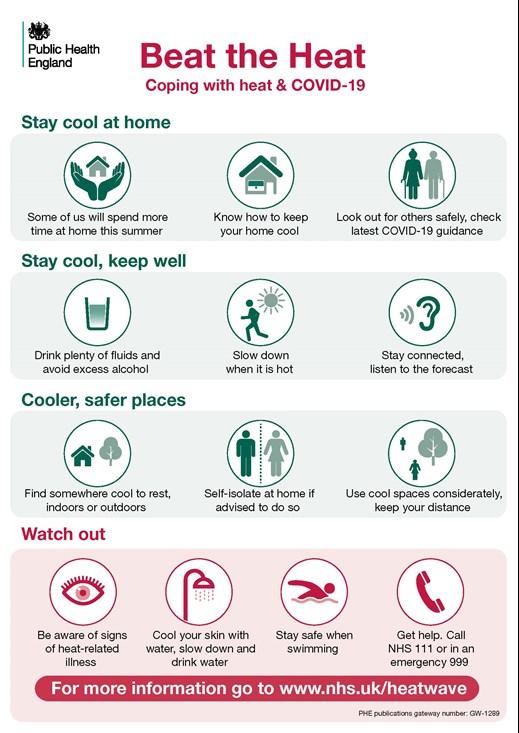 Beat the heat - Public Heath England infographic