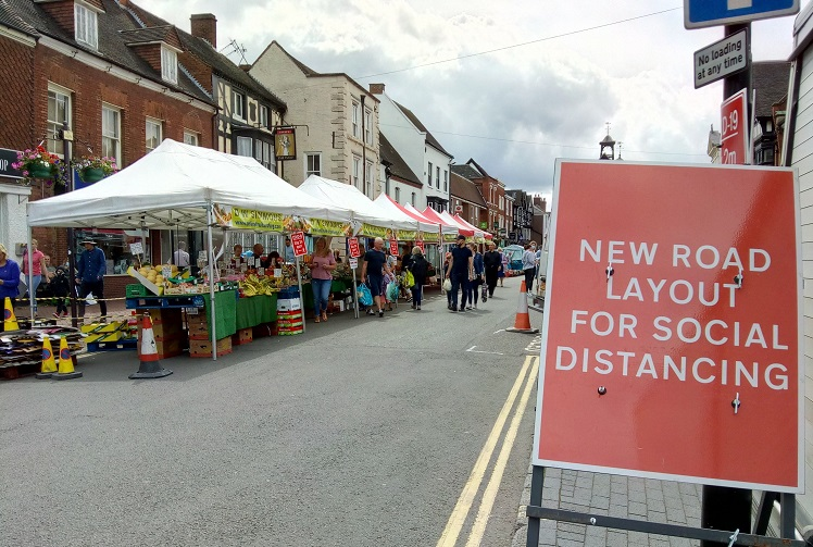Bridgnorth market on Saturday 25 July 2020