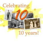 photos in a '10 years' Local History centre logo for Bridgnorth Library
