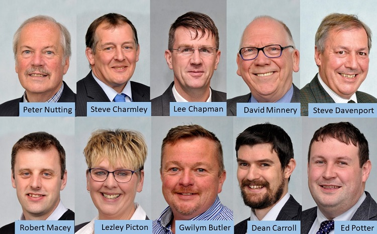 Shropshire Council's Cabinet members
