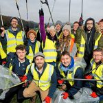 An image of groups from DM Recruitment and Shropshire Council ahead of the charity litter pick at Birchmeadow Park in Broseley