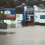 Chase Car Centre during the recent floods