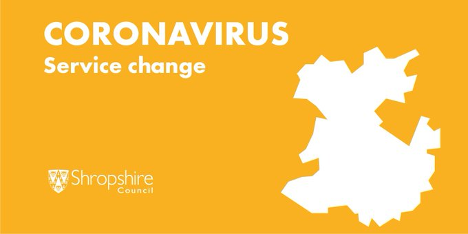 Coronavirus - service change graphic