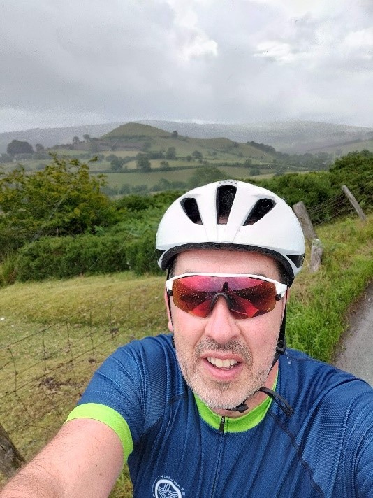 Jonathan Fraser is an IT infrastructure engineer who has consistently cycled over 20km each day for KM4Cancer, whilst enjoying the beautiful Shropshire countryside