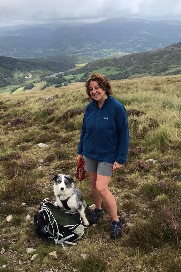 Julie Edwards is one of the council's software specialists and has travelled the furthest for the challenge, completing over 1,100km so far
