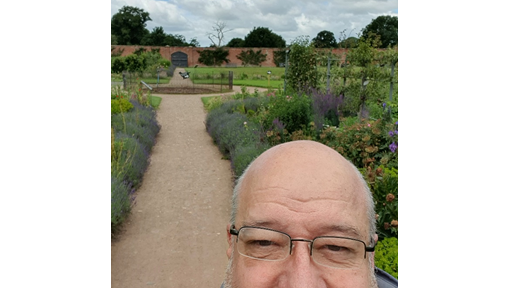 Chris Warrender is the council's lead security specialist and has been visiting some of Shropshire's stately homes and walks to get his kilometres in
