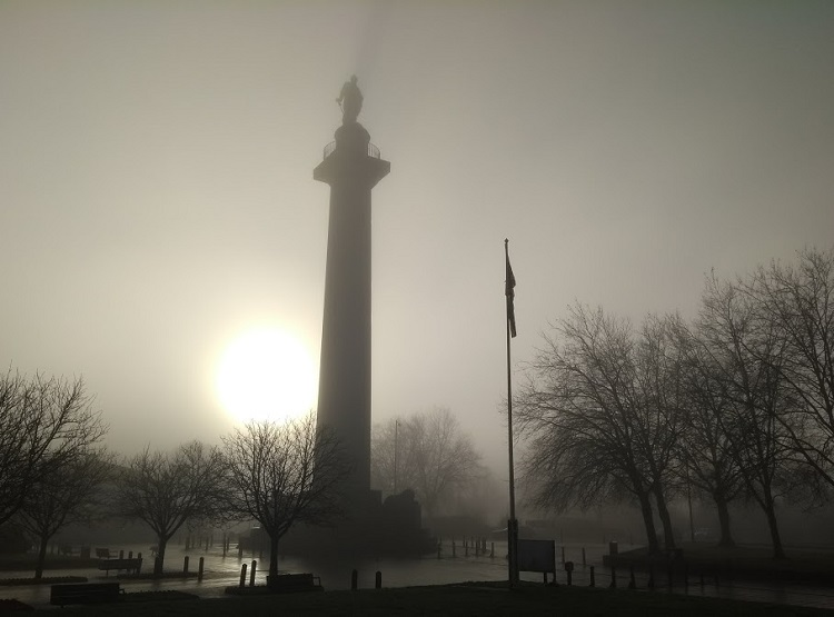 The Column, Shrewsbury in the fog