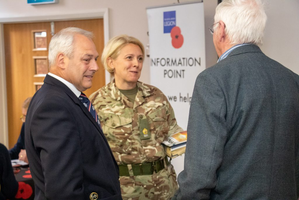 People at Armed Forces Outreach sessions