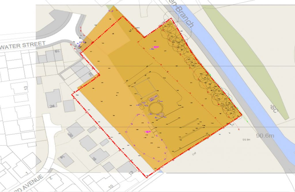 A plan of the site at which work is to be carried out.