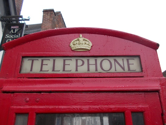 iconic red BT phone box
