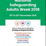 National Safeguarding Adults Week 2018 poster