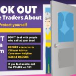 a poster advising public about rogue traders