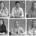 Photographs of some of the children's social workers that feature in the Shropshire Council recruitment video