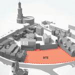 Illustration showing the Tannery site in Shrewsbury town centre