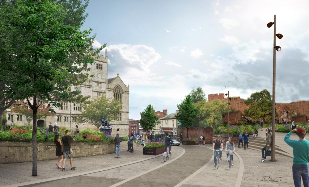 The Castle Quarter vision - artists drawing