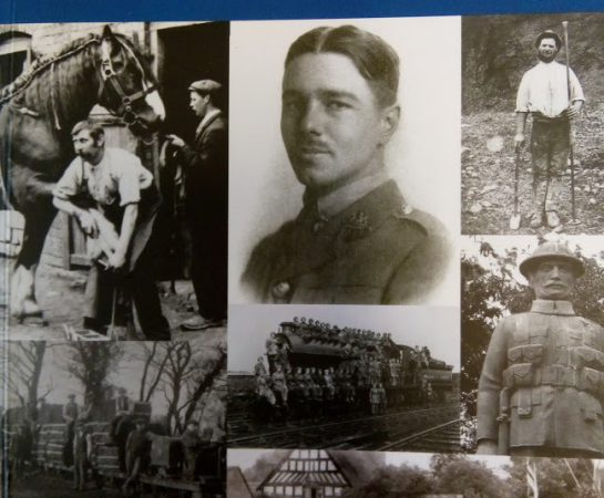 An image of the front cover of the First World War Shropshire war walks book that was produced by Shropshire Council.