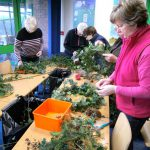 People wreath-making at Severn Valley Country Park